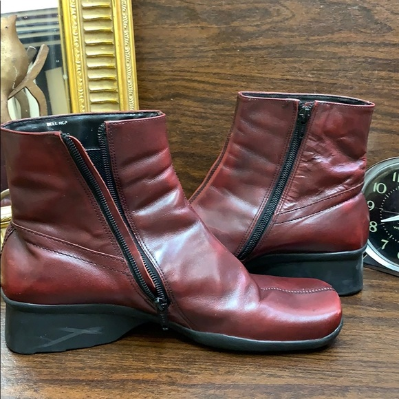 Reaction leather made in Brazil ankle boots